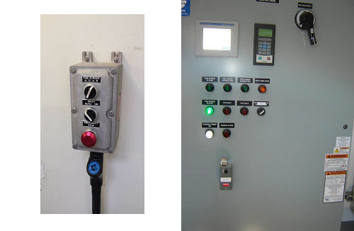 NEMA 7 hand station, PLC control